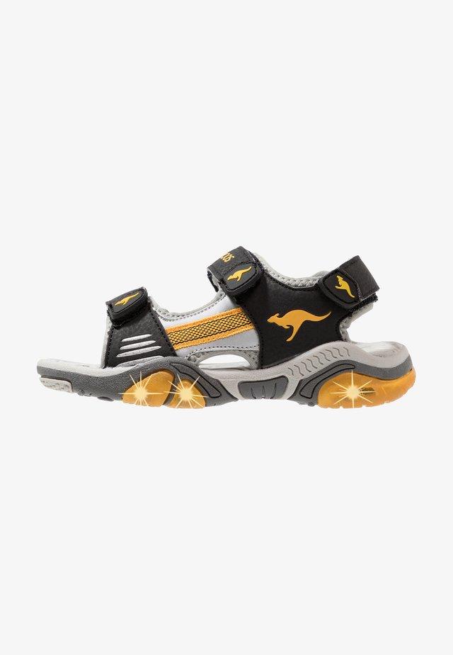 Walking sandals - jet black/sun yellow