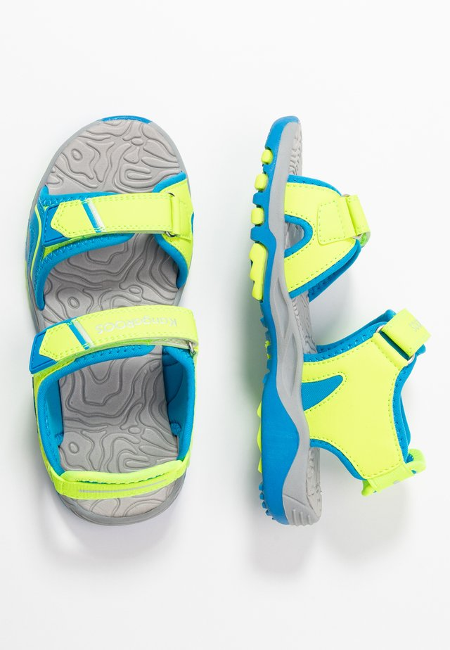 K-TRACK - Walking sandals - neon yellow/brillant blue