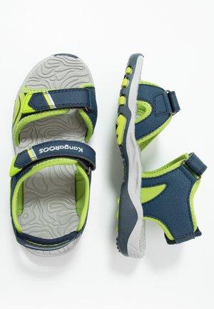 K-TRACK - Sandales de randonnée - dark navy/lime