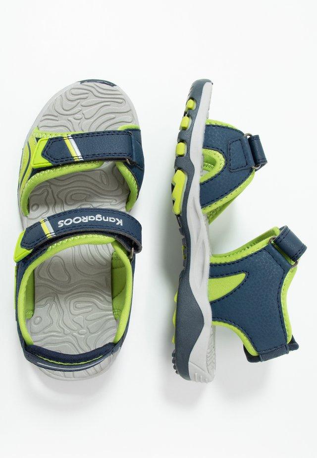K-TRACK - Walking sandals - dark navy/lime
