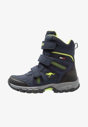 K-RANI - Vysoká obuv - dark navy/lime