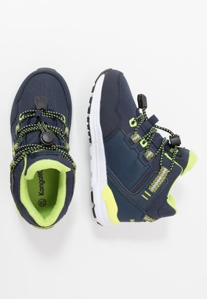 TRABO RTX - High-top trainers - dark navy/lime