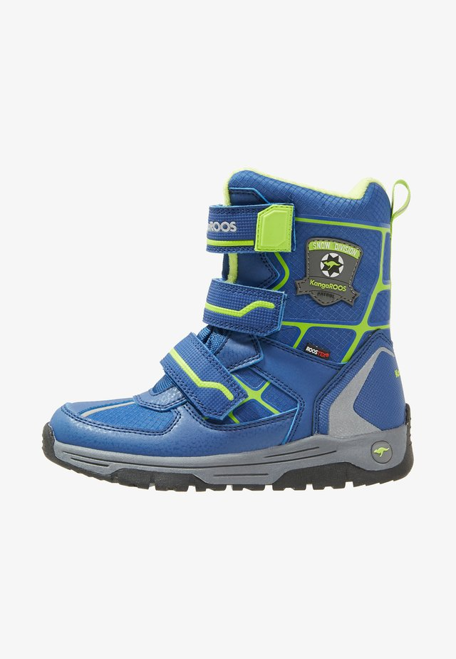 MARSHAL RTX - Winter boots - navy/lime