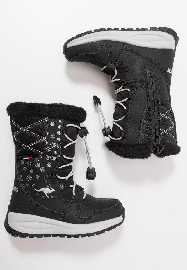 K-GLAZE RTX - Winter boots - jet black/silver