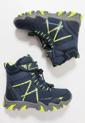 RTX - Šněrovací vysoké boty - dark navy/lime