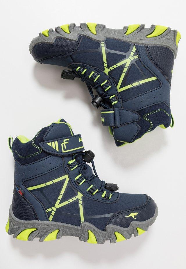RTX - Stivali con i lacci - dark navy/lime