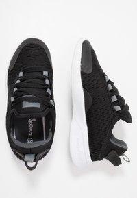 KangaROOS - KF FLEX - Baskets basses - jet black/steel grey - 0