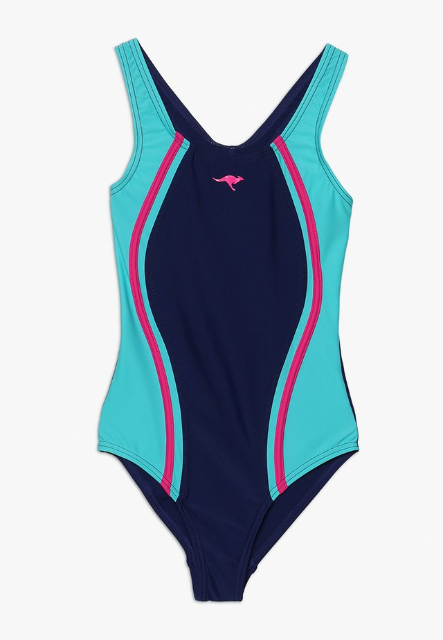 SWIMSUIT - Swimsuit - navy/turquoi