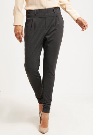 JILLIAN PANTS - Trousers - dark grey melange