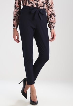 JILLIAN BELT PANT - Broek - midnight marine