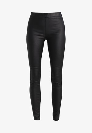 ADA COATED - Jegging - black deep