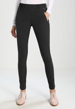 JILLIAN SOFIE PANT - Spodnie materiałowe - dark grey melange
