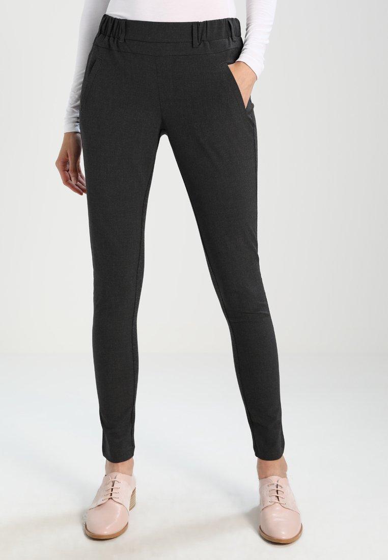 Kaffe - JILLIAN SOFIE PANT - Trousers - dark grey melange