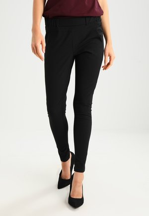 JILLIAN SOFIE PANT - Broek - black deep