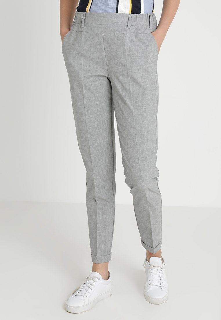 Kaffe - NANCI JILLIAN PANT - Trousers - light grey melange