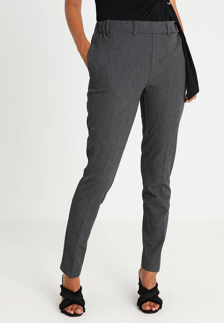 Kaffe - RONIE PANTS - Trousers - dark grey melange