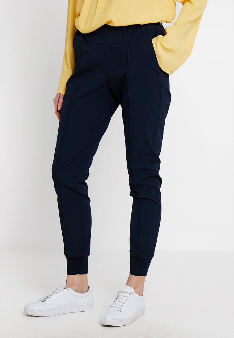 Kaffe - KAMALA JILLIAN PANTS - Trousers - midnight marine