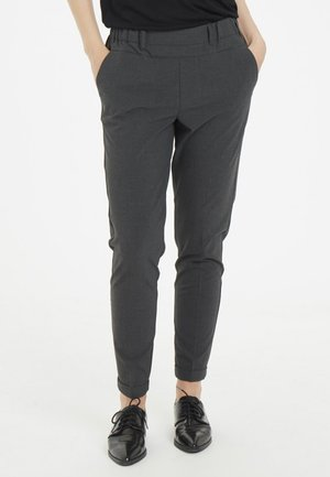NANCI JILLIAN 7/8 PANTS - Trousers - dark grey