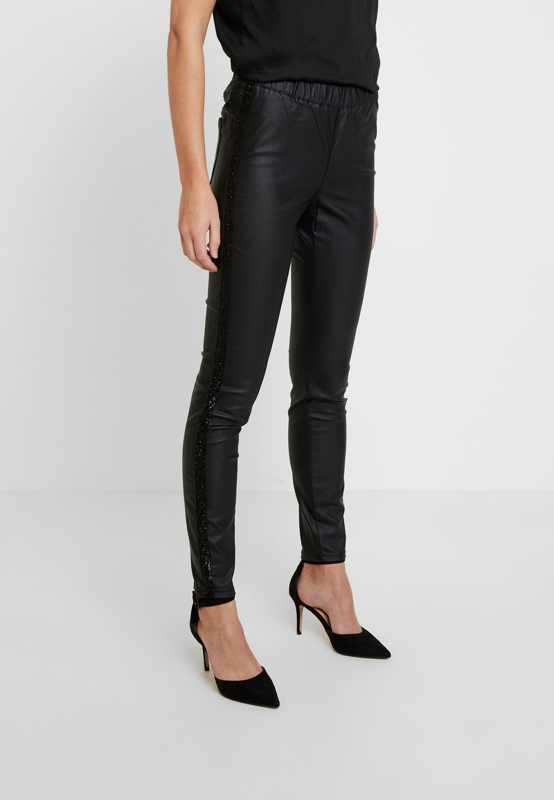 Kaffe - ADA TAPE - Trousers - black deep