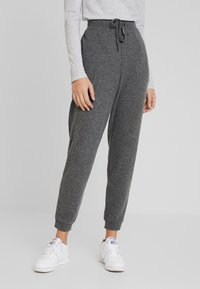 Kaffe - SORANA - Teplákové kalhoty - dark grey melange - 0