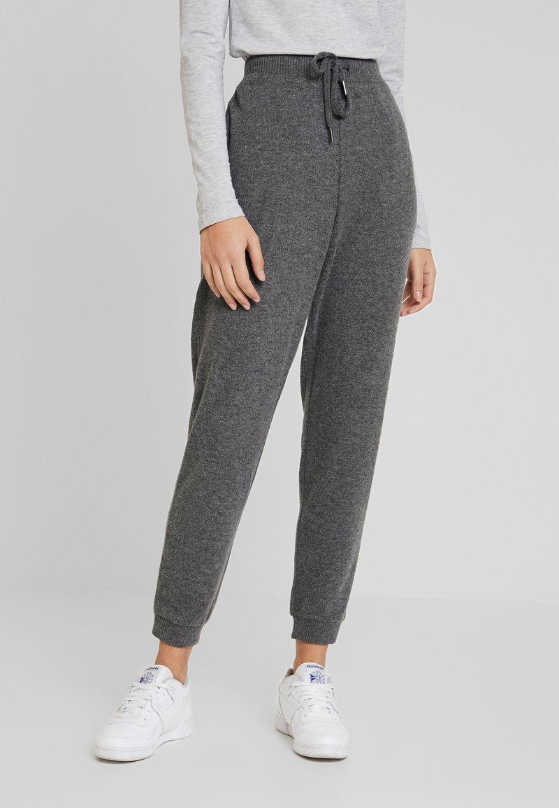 Kaffe - SORANA - Teplákové kalhoty - dark grey melange