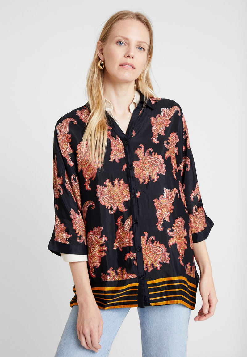 Kaffe - KAPASLY - Button-down blouse - black deep