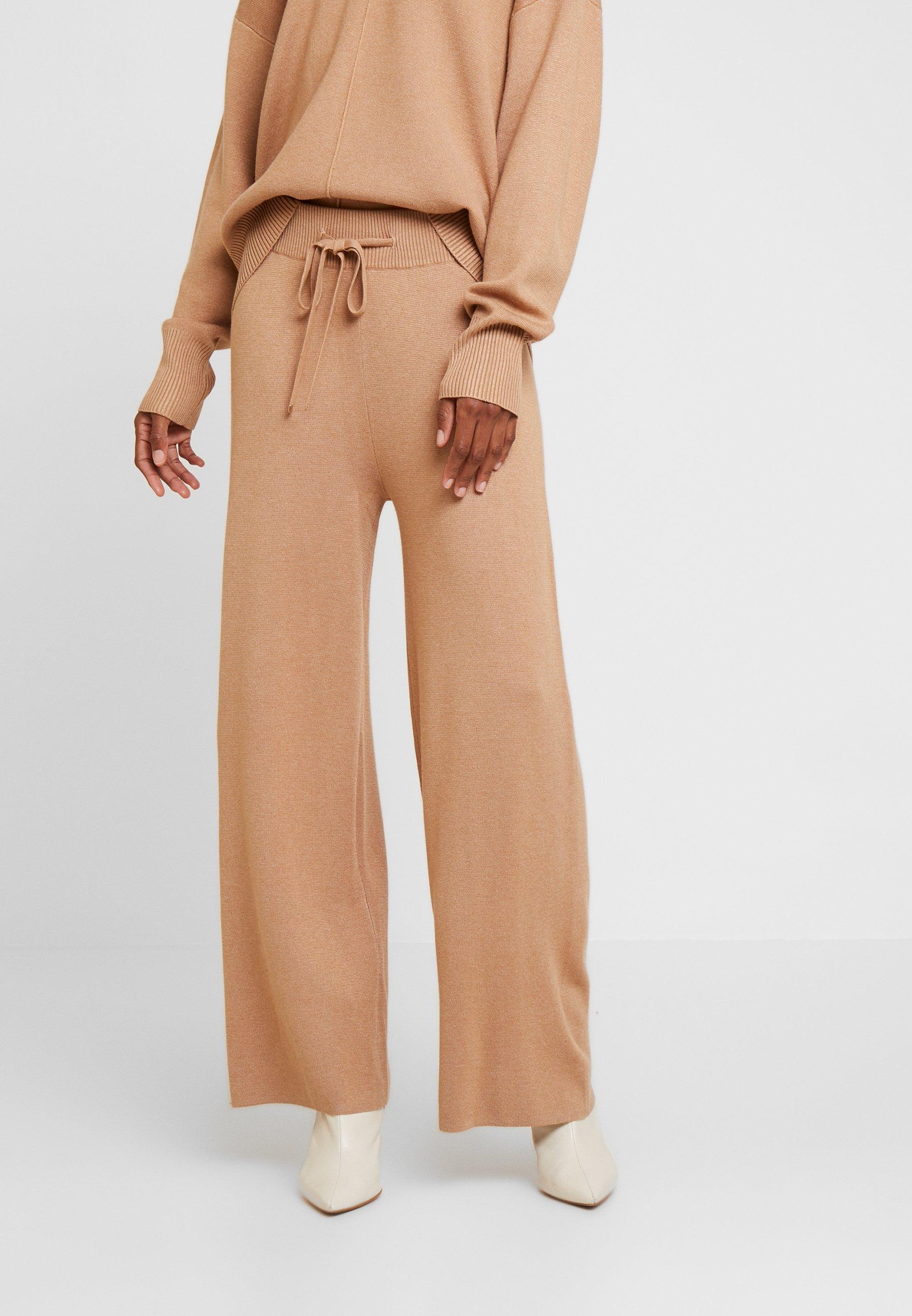 Kaffe KAMOLLY CULOTTE PANTS - Spodnie materiałowe - tannin