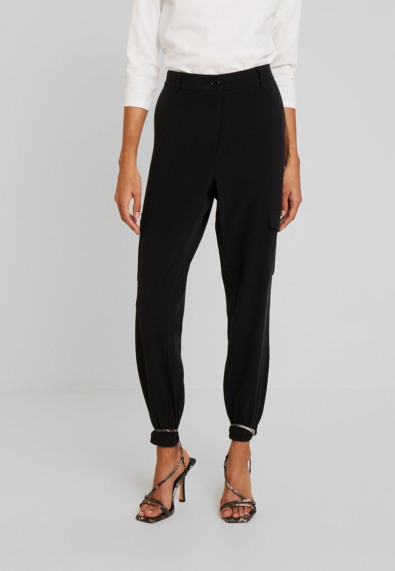 Kaffe - EDA PANTS - Pantalones - black deep