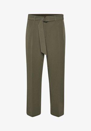 Pantaloni - grape leaf / black pin stripe