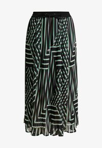 Kaffe - KADAMITA SKIRT - A-linjekjol - black deep/irish green - 3