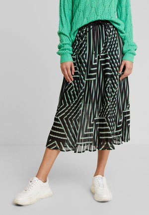 KADAMITA SKIRT - Jupe trapèze - black deep/irish green