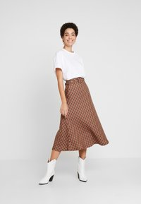 Kaffe - KADOLORES SKIRT - Jupe trapèze - tiger's eye