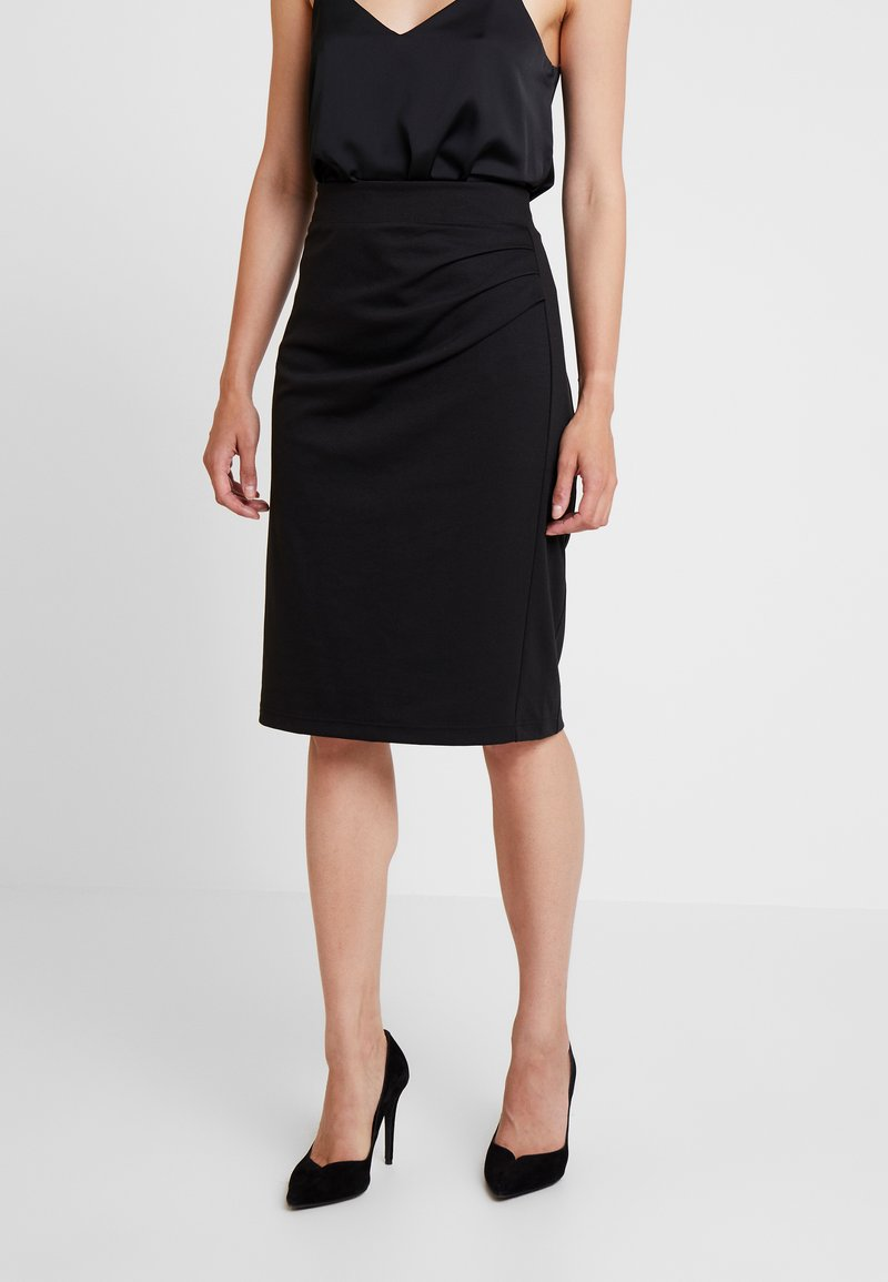 Kaffe - INDIA SKIRT - Pencil skirt - black deep