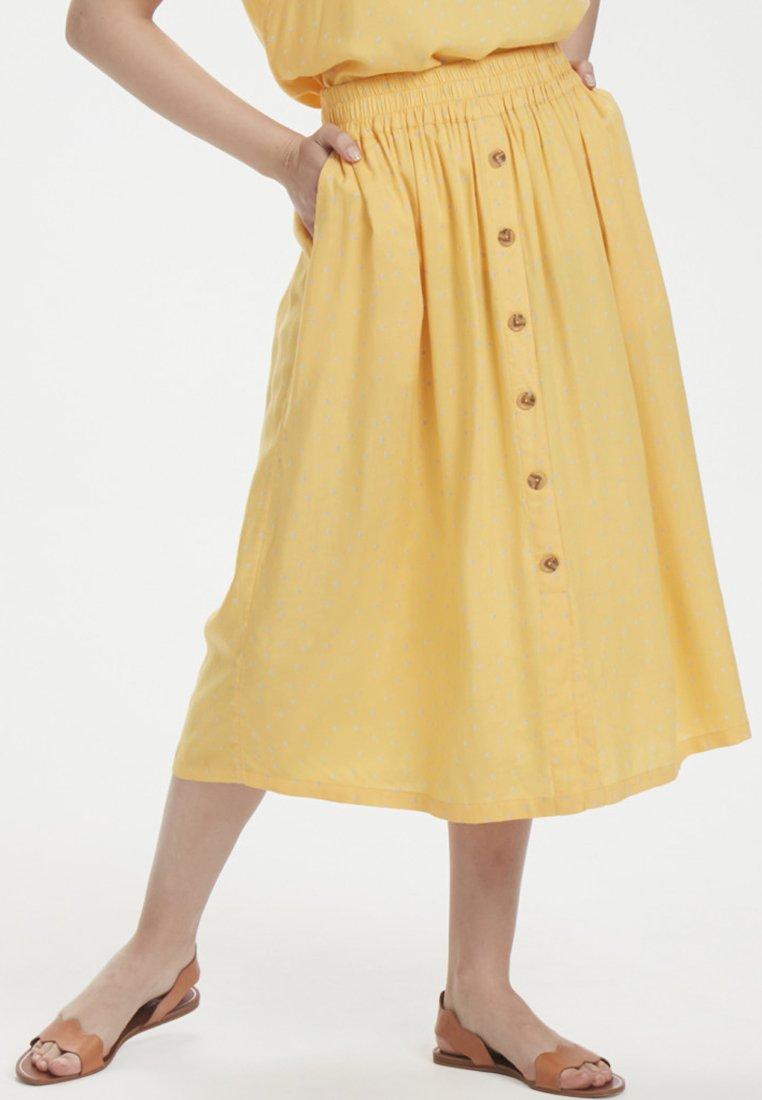 Kaffe - KAISABEL - A-line skirt - yellow