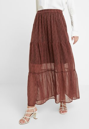 ELLA SKIRT - Gonna lunga - dull orange