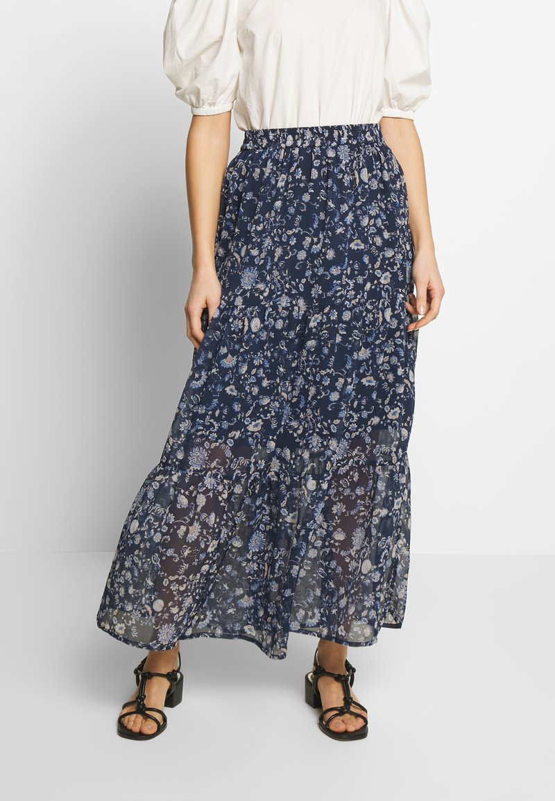 Kaffe - KAFIONA SKIRT - Gonna lunga - midnight marine