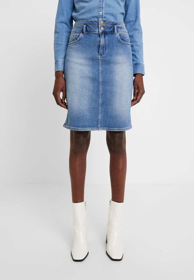 KAHALSTON - Pencil skirt - light blue