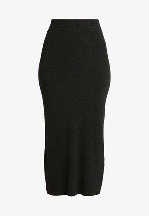 LULU ASTRID SKIRT - Spódnica ołówkowa  - dark grey melange
