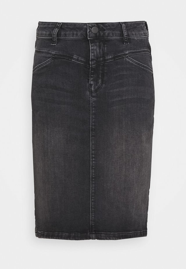 HADLEY SKIRT - Szorty jeansowe - black washed denim