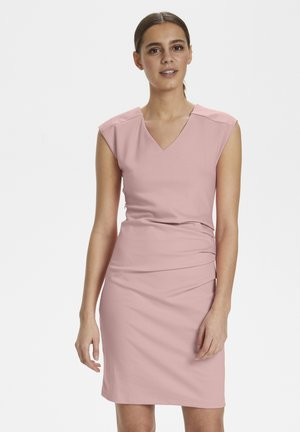 INDIA V-NECK DRESS - Etuikleid - Candy Pink