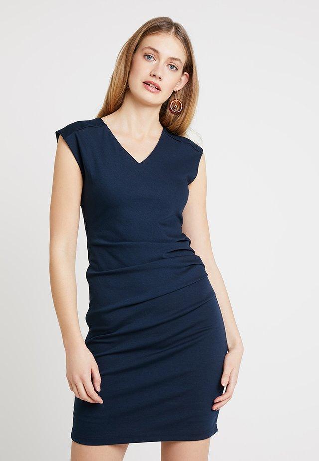 INDIA V-NECK DRESS - Shift dress - midnight marine