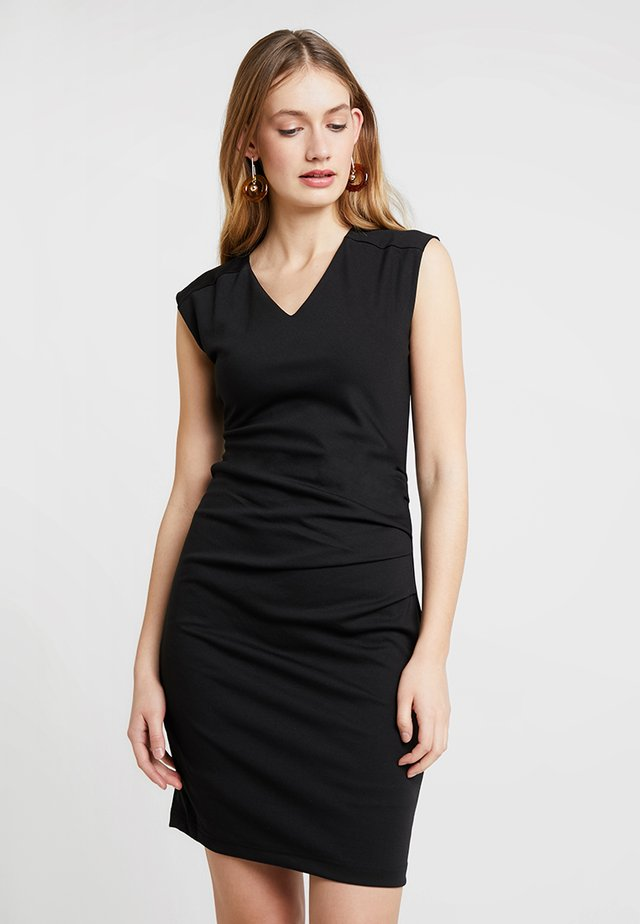 INDIA V-NECK DRESS - Shift dress - black deep