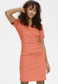Kaffe - INDIA V-NECK - Tubino - living coral - 0