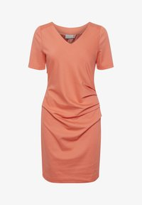 Kaffe - INDIA V-NECK - Tubino - living coral - 5