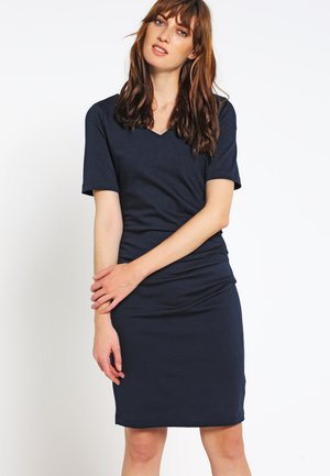 INDIA V-NECK - Robe fourreau - midnight marine