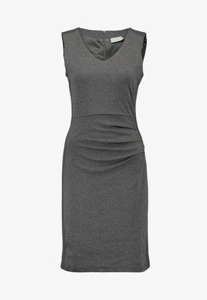 SARA DRESS - Etui-jurk - dark grey melange