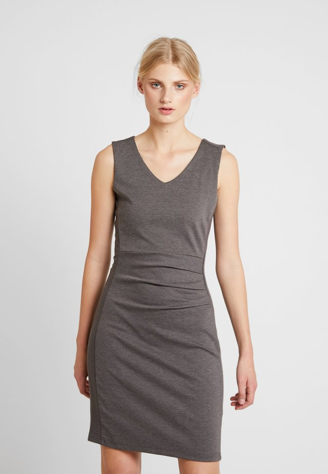 SARA DRESS - Sukienka etui - dark grey melange