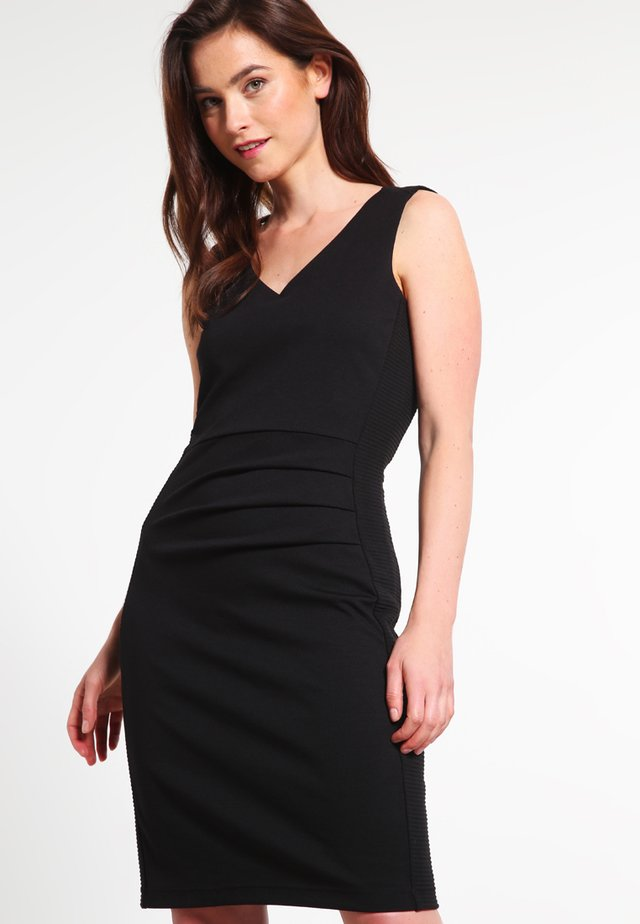 SARA DRESS - Shift dress - black deep