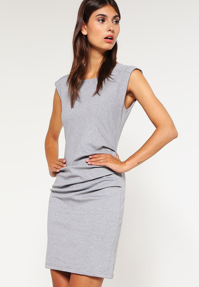 INDIA O NECK - Shift dress - grey