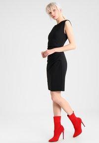 Kaffe - INDIA O NECK - Shift dress - black - 1
